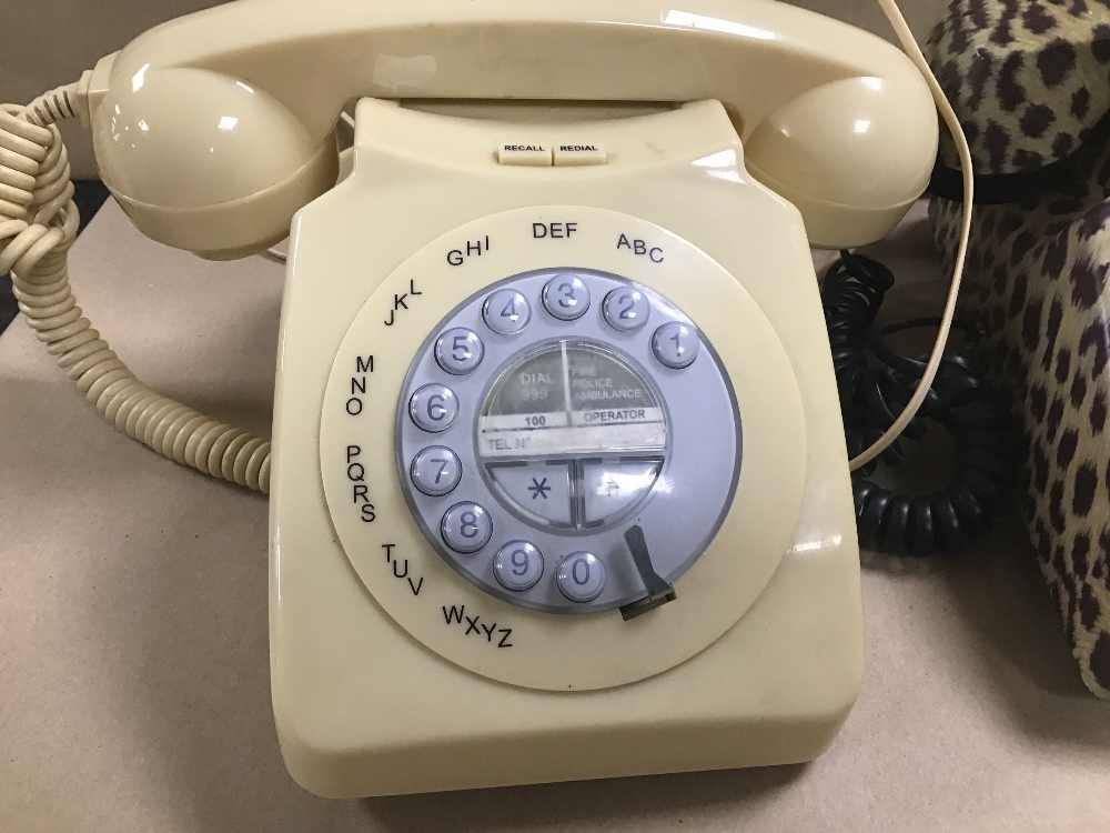 Lot 21 - TWO VINTAGE TELEPHONES AND ANOTHER