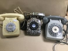 TWO VINTAGE TELEPHONES AND ANOTHER