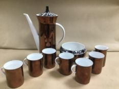 A ROSENTHAL STUDIO LINE COFFEE SET, MARKED TO BASES HILTON 4009