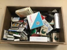 TOBACCIANA, ASSORTED ITEMS INCLUDING CIGARETTE PACKETS, MATCHBOOKS, RIZLA PACKETS ETC