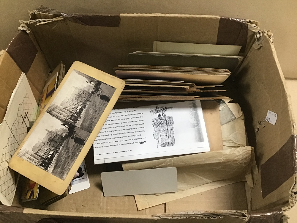 Lot 17 - A VICTORIAN STEREOSCOPE VIEWER WITH SLIDES