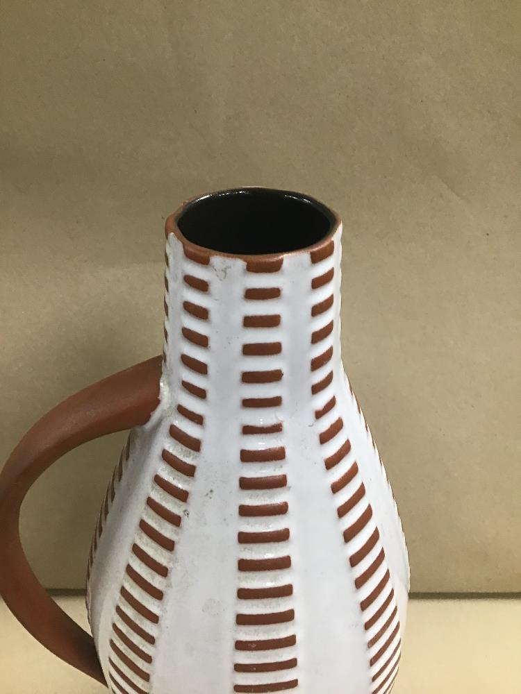 Lot 3 - A MID CENTURY WEST GERMAN ART POTTERY POURING JUG, 33CM HIGH