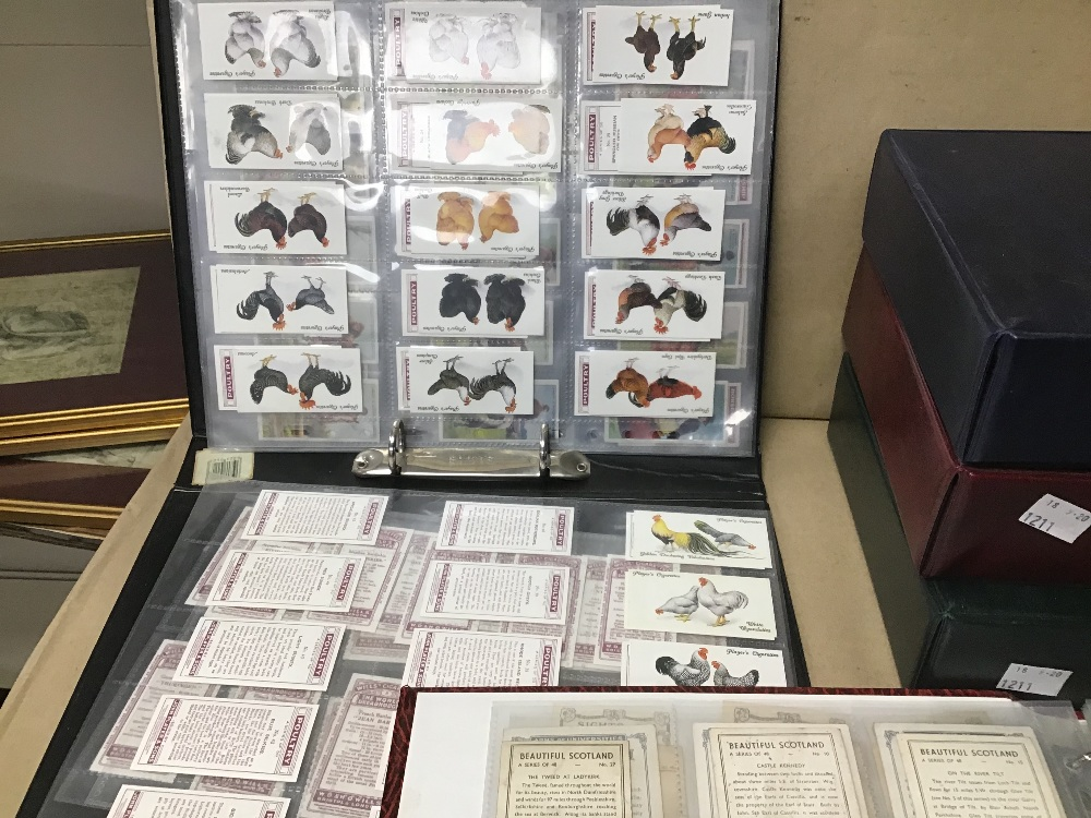Lot 28 - FIVE ALBUMS OF CIGARETTE CARDS INCLUDING J.WIX & SONS, WILLS, AND MORE