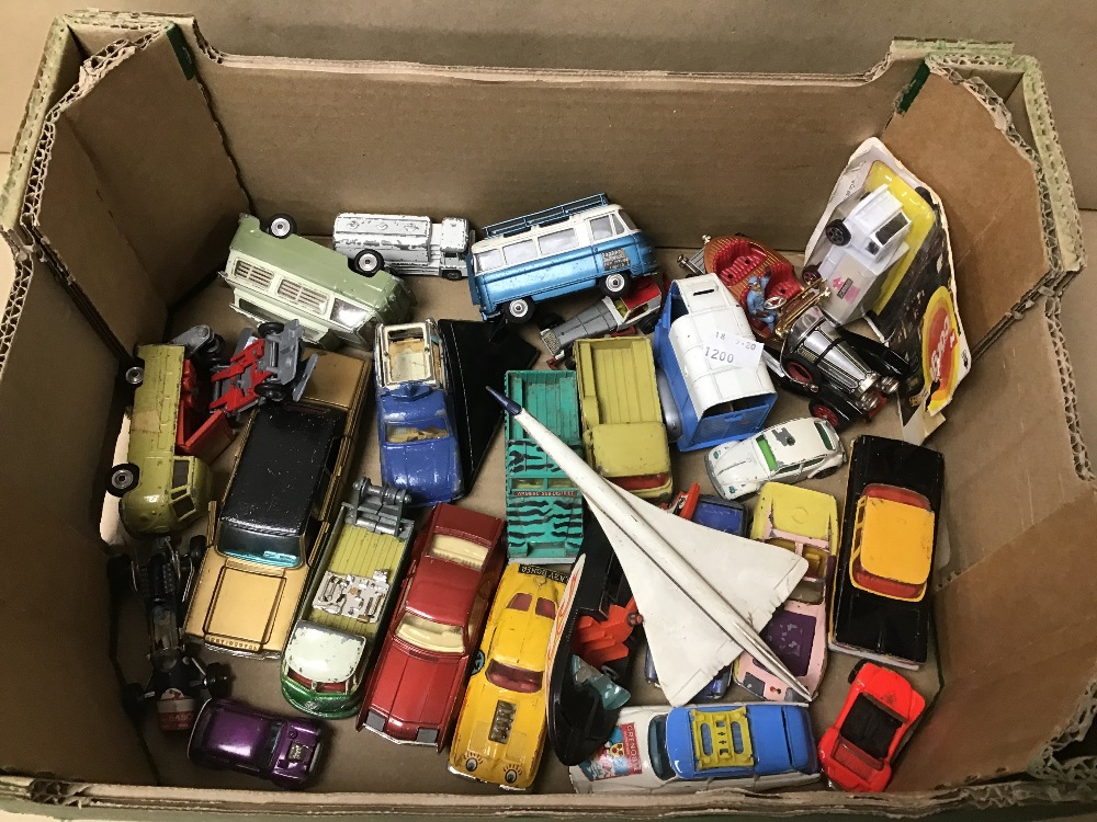 Lot 24 - A COLLECTION OF DIE-CAST PLAYWORN TOYS CORGI
