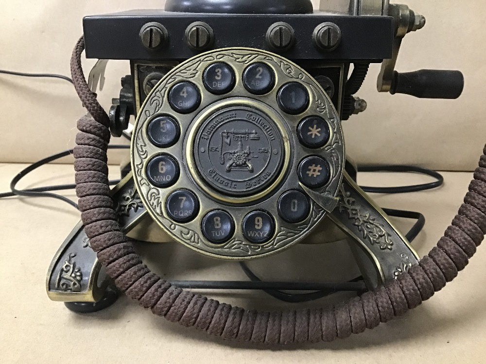 Lot 7 - A MODERN TELEPHONE IN THE ANTIQUE STYLE BY PARAMOUNT ELECTRONICS