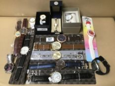 MIXED COLLECTION OF LADIES AND GENTS MODERN WATCHES INCLUDING SEKONDA