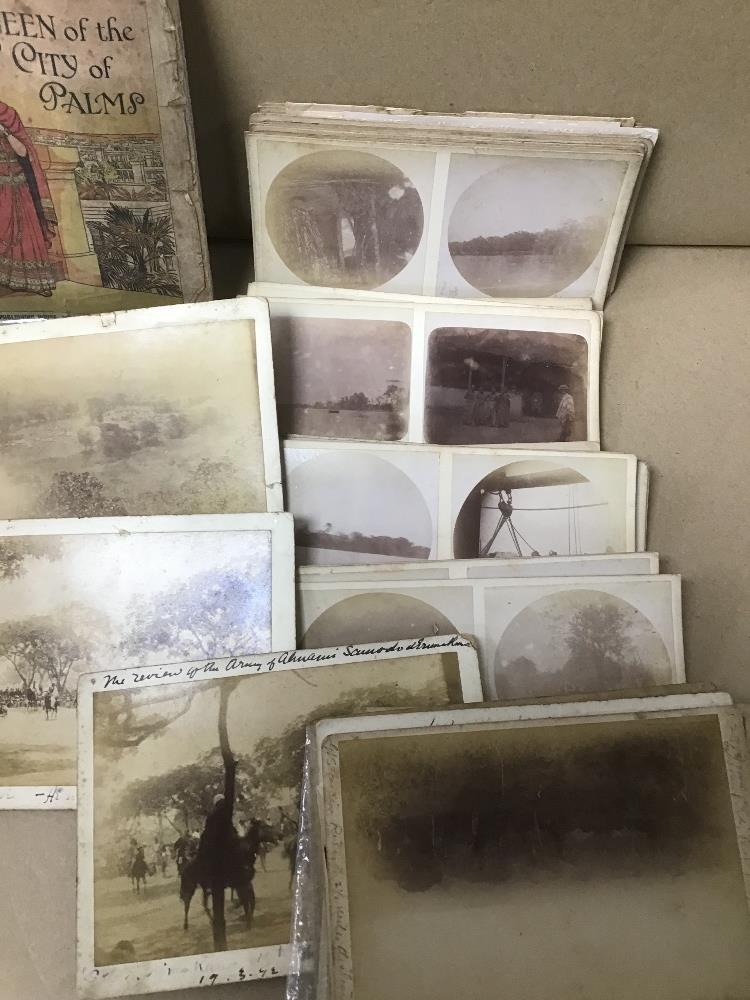 A COLLECTION OF POSTCARDS AND PHOTOGRAPHIC SLIDES FROM THE LATE 19TH/EARLY 20TH CENTURY, INCLUDING - Image 4 of 10