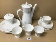 A FOURTEEN PIECE ROSENTHAL OF GERMANY COFFEE SET