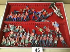 A COLLECTION OF PAINTED LEAD BRITAINS SOLDIERS