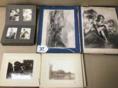TWO EARLY 20TH CENTURY PHOTOGRAPH ALBUMS, ONE INCLUDING DATES DURING WWI, APPROX 70 IN TOTAL