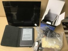 NINTENDO DS WITH ACCESSORIES / AMAZON KINDLE AND DIGITAL PHOTOFRAME