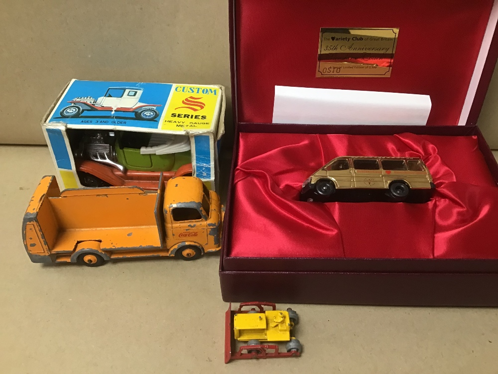 FOUR MODEL VEHICLES, INCLUDING VARIETY CLUB LIMITED EDITION GOLD PLATED SUNSHINE COACH BY LLEDO, - Image 2 of 3