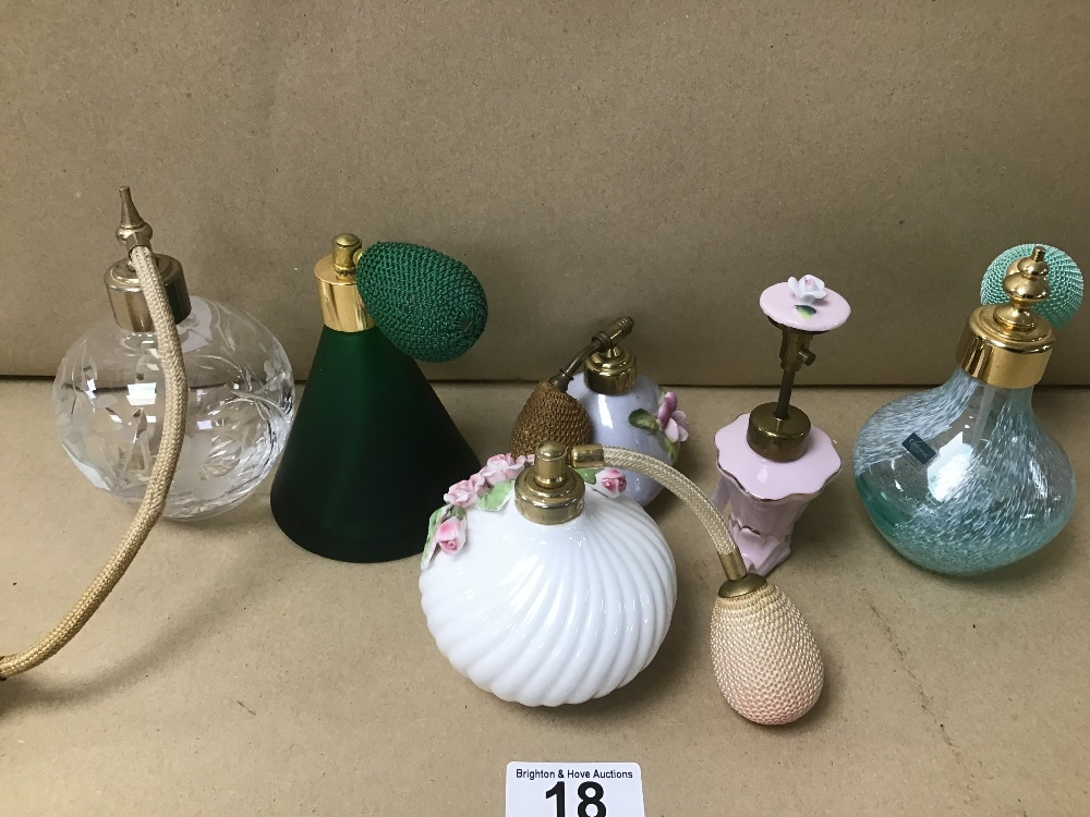SIX VINTAGE LADIES ATOMIZERS INCLUDING CAITHNESS GLASS ETC - Image 2 of 3