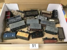 A SELECTION OF HORNBY RAILWAYS CARGO WAGONS