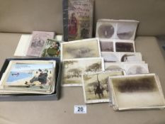 A COLLECTION OF POSTCARDS AND PHOTOGRAPHIC SLIDES FROM THE LATE 19TH/EARLY 20TH CENTURY, INCLUDING