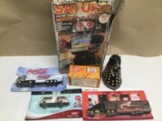 A MIXED QUANTITY OF TOYS INCLUDING A BOXED SATURN 13 INCH WALKING ROBOT