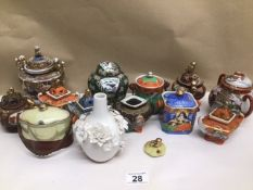 A MIXED COLLECTION OF ORIENTAL CERAMICS INCLUDING POLYCHROME