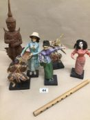 A QUANTITY OF MAINLY VINTAGE DOLL FIGURES AND MORE