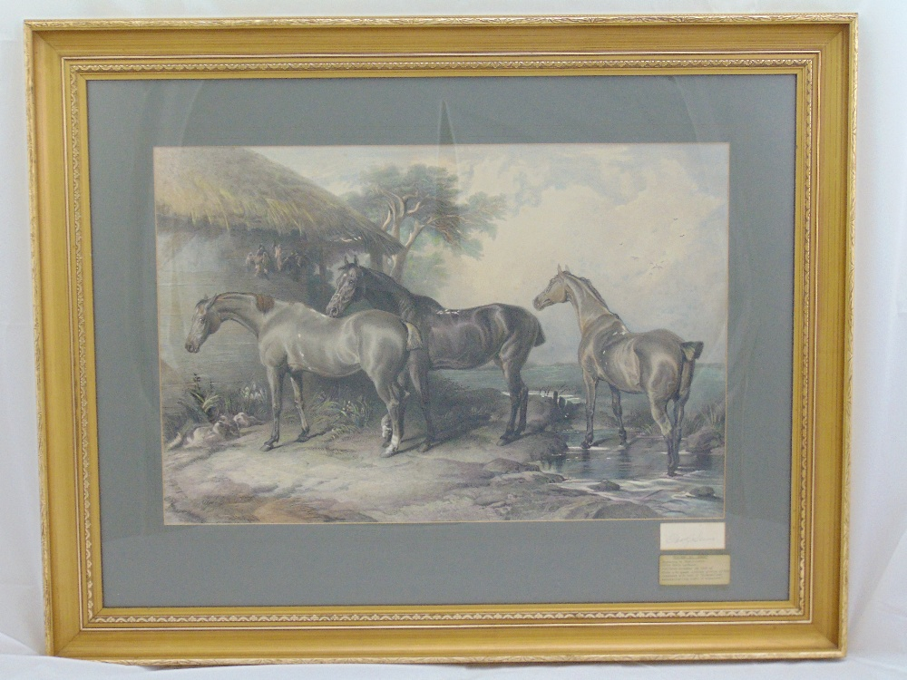 Lot 33 - Charles G. Lewis framed and glazed polychromatic engraving after Edward Landseer titled Hunters at