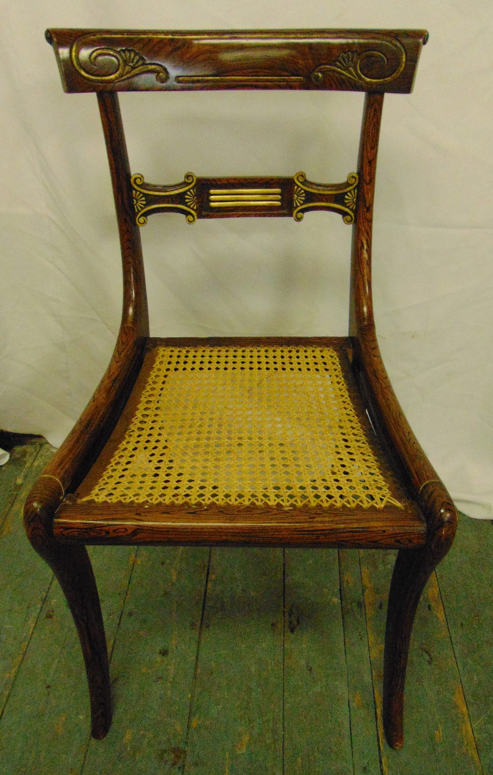 Lot 25 - A late 19th century mahogany occasional chair with caned seat
