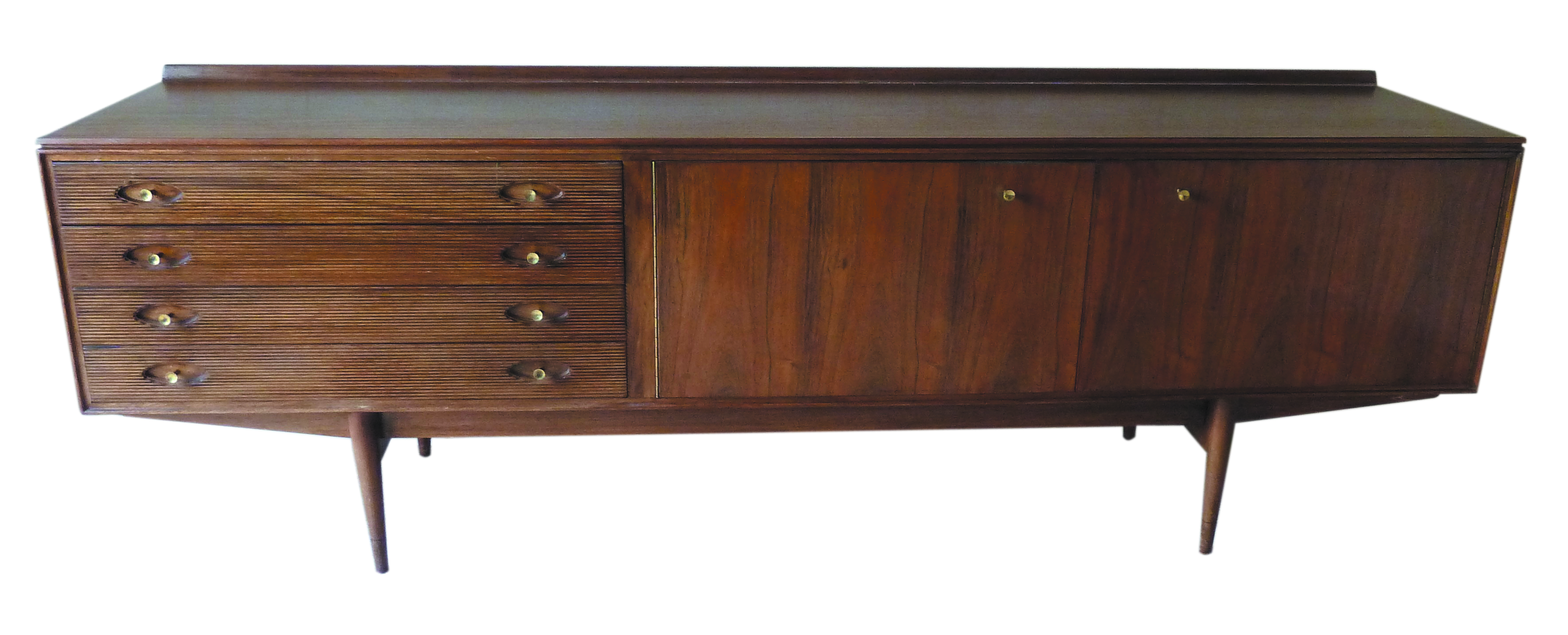 Lot 1 - Robert Heritage for Archie Shine Hamilton rectangular sideboard with four drawers and two cupboards,