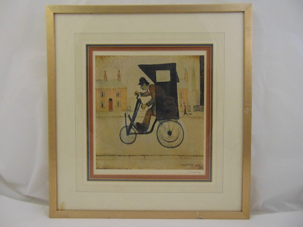 Lot 52 - L S Lowry framed and glazed polychromatic lithographic print, The contraption, signed in the