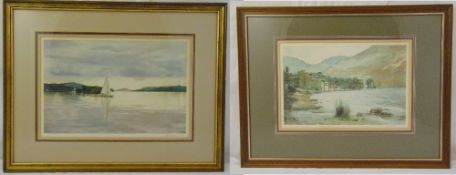 Michael Revers two framed and glazed limited edition prints of lake scenes, to include COAs, 25 x