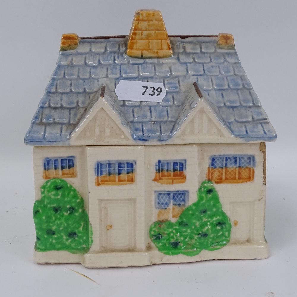 Lot 739 - A set of 3 jugs, a Bakelite comport on chrome stand, a Paris porcelain pot and cover, etc