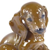 Rosenthal porcelain puppy, signed T Kamer, height 14cm Perfect condition