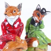 A pair of Royale Stratford China, hunting fox figures, height 17cm Perfect condition