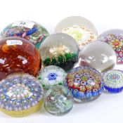 Various glass paperweights, including Caithness, Isle of Wight, and Perthshire