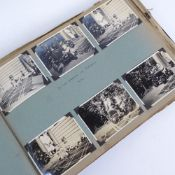 An early 20th century photograph album, various travel around the world, circa 1920s/30s, with