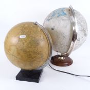 """2 Vintage globes, including Philips 10""""Q Challenge Globe example (2)"""