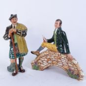 2 Royal Doulton figures, including the Laird HN2361, and Robert Burns HN3641, largest height 20cm (