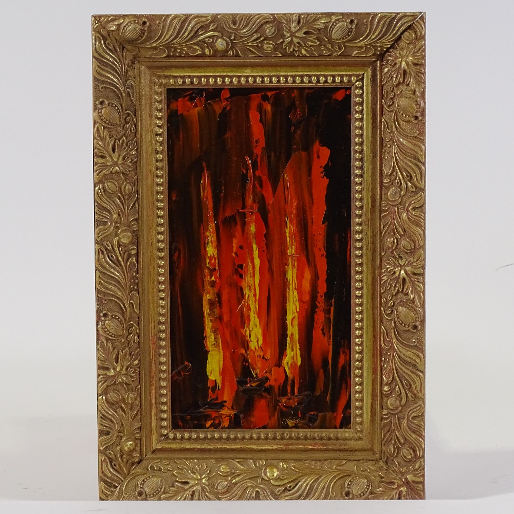 Lot 68 - Attributed to Auguste-Jean Gaudin (1914-1992), abstract composition, impasto oil on board, unsigned,