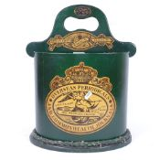 A modern Barge Ware green cardboard stick stand, with printed decoration, height 45cm