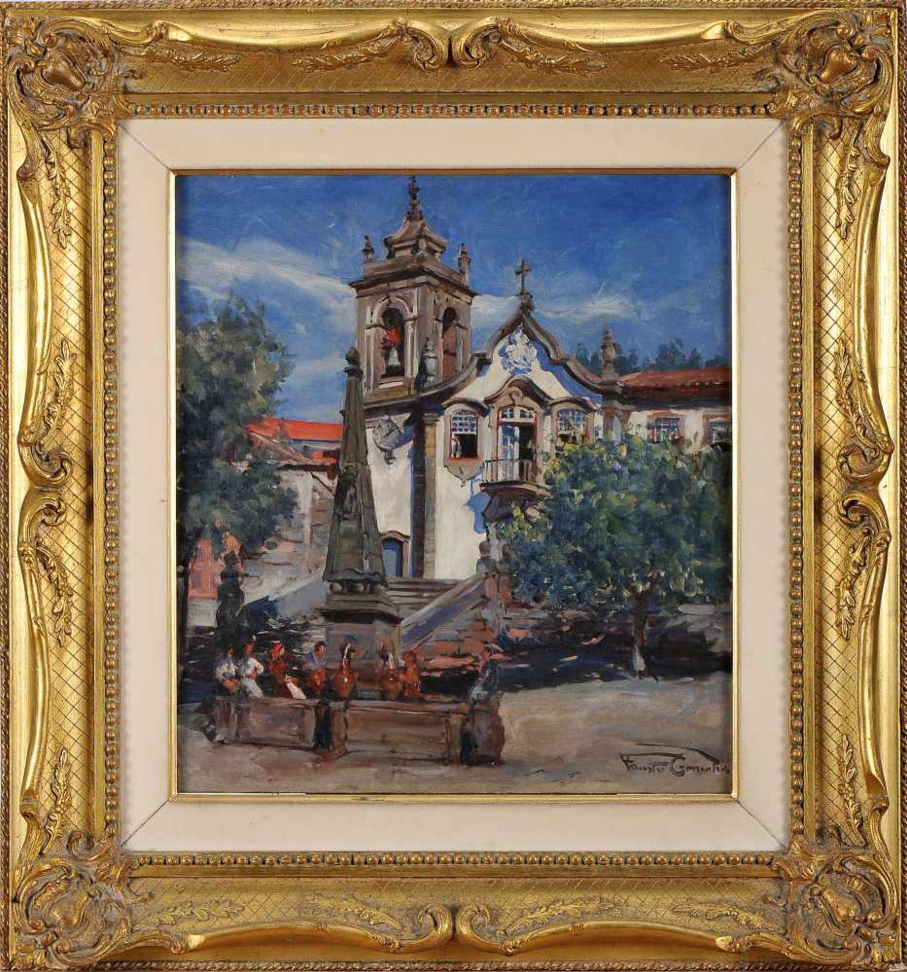 Los 87 - The Seia ChurchFAUSTO GONÇALVES - 1893-1947, The Seia Church, oil on canvas, relined, small...