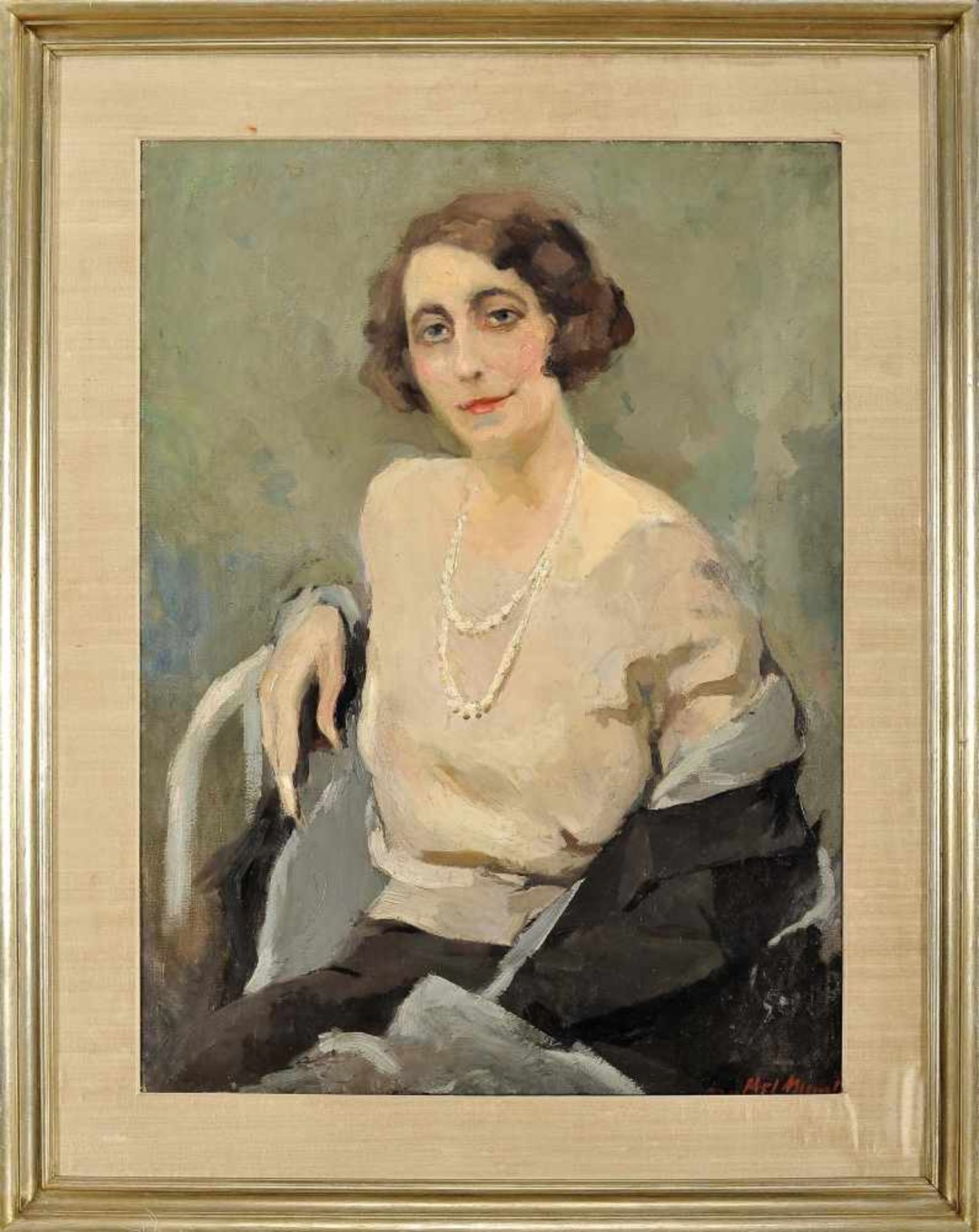 Portrait of painter Maria Adelaide de Lima Cruz