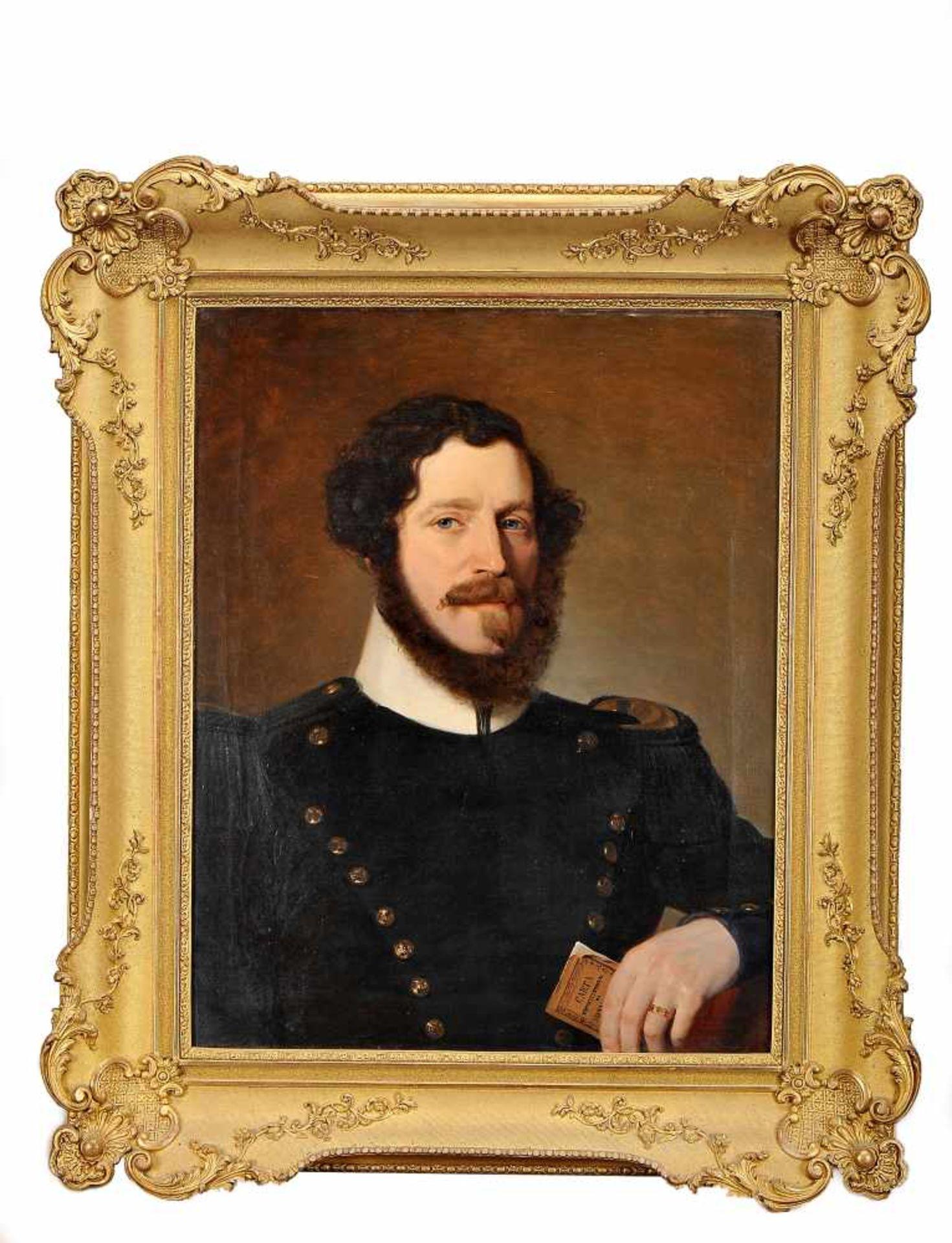 Los 81 - Portrait of Gentleman in Uniform holding The Constitutional CharterPortrait of Gentleman in...