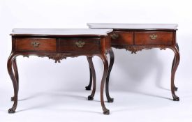 A Pair of Side TablesA Pair of Side Tables, D. José I, King of Portugal (1750-1777), carved