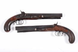 A pair of percussion duelling pistols
