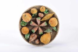 A hanging decorative plate