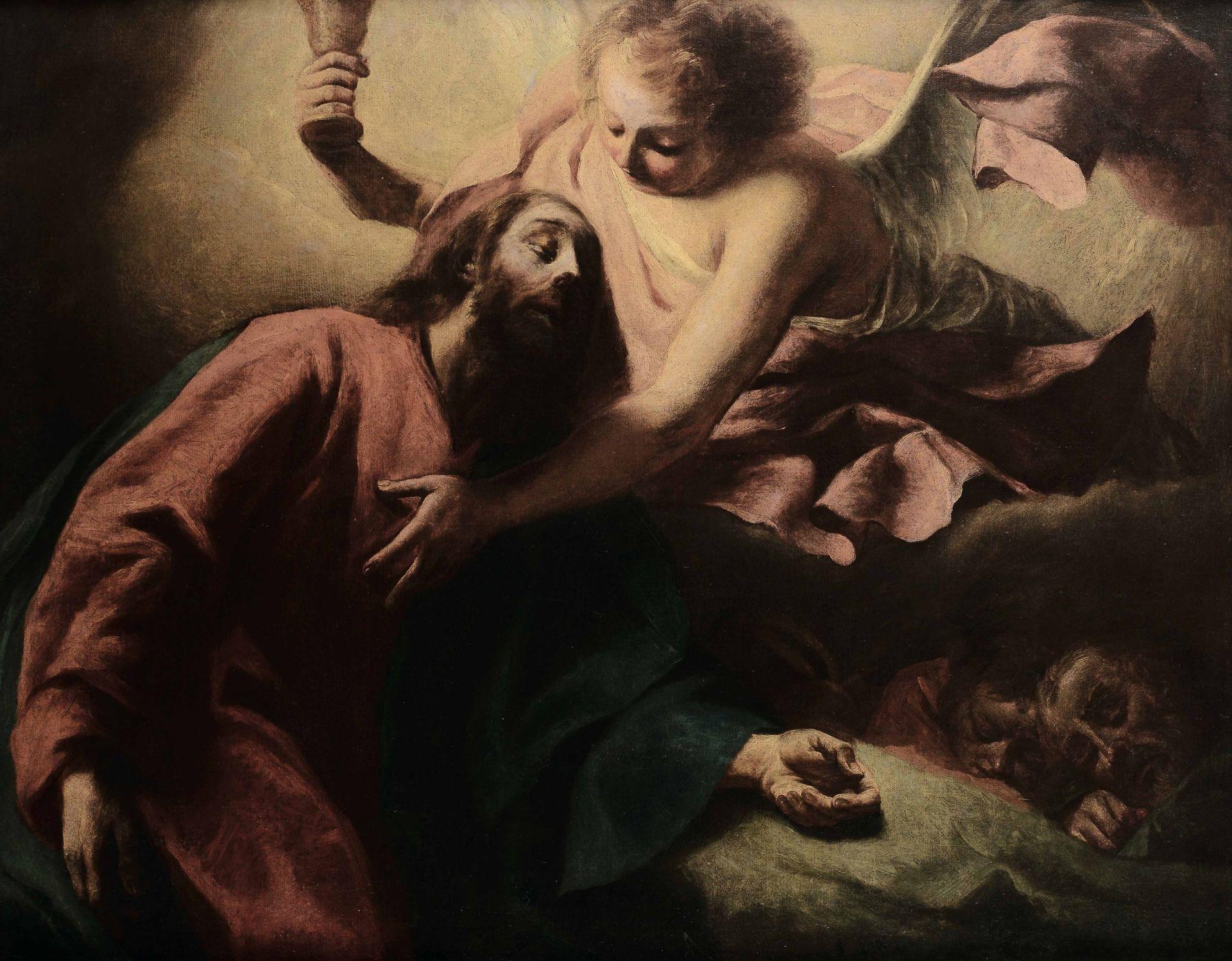 Los 22 - Scuola veneta del XVIII secolo, Orazione nell'orto - olio su tela, cm 91x121,5 -
