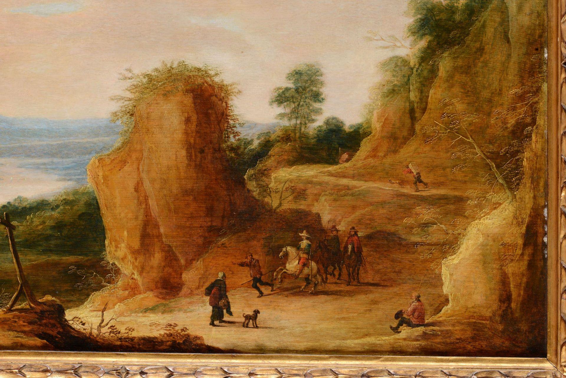 Los 45 - Joos de Momper (1564-1635), Paesaggio con viandanti - olio su tavola, cm 54x78 -