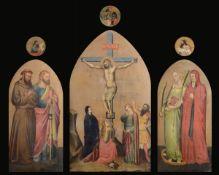 Anonimo pittore del XIX secolo, Crocifissione, San Francesco d'Assisi e San [...]