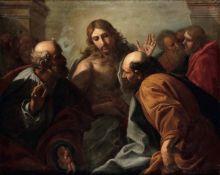 Scuola veneta del XVIII secolo, L'incredulità di San Tommaso - olio su tela, cm [...]