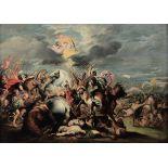 Scuola del Nord Europa dell'inizio del XVIII secolo, Battaglia con cavalieri - olio [...]