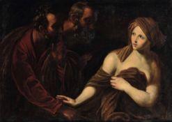 Guido Reni (Bologna 1575 - 1642), copia da, Susanna e i vecchioni - olio su tela, cm [...]