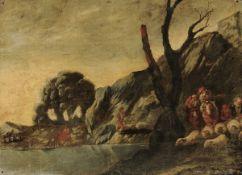 Antonio Travi detto il Sestri (Sestri Ponente 1608 - Genova 1665), Figure con armenti [...]