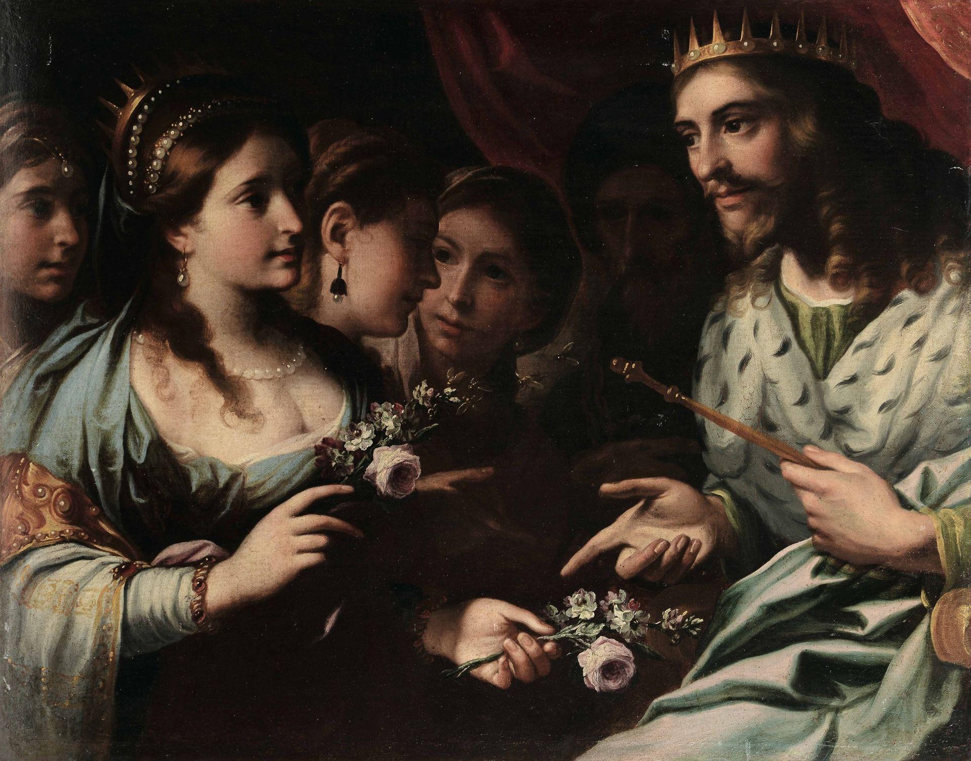 Federico Bianchi (Masnago 1635 - Milano 1719), Salomone e la regina di Saba - olio su [...]